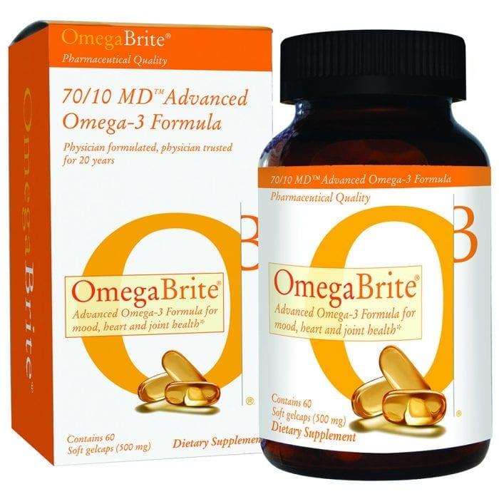 OmegaBrite 70/10 Md Omega-3 Bottle