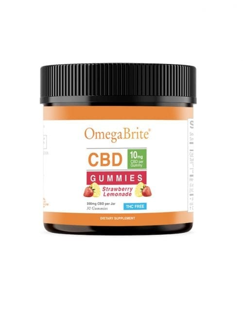 OmegaBrite CBD Gummies - Strawberry Lemonade